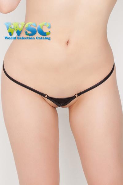 エロ下着の通販商品:極小ビキニ・TバックE2327・黒・イメージ写真7