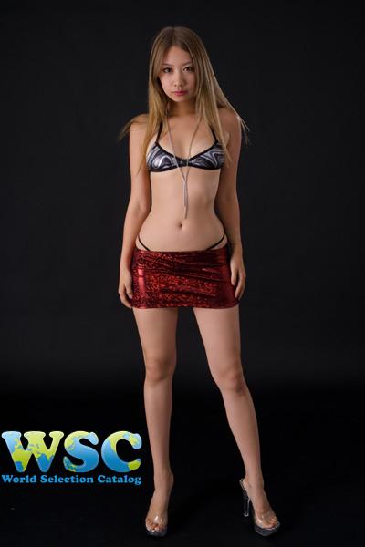 ボディコン通販の商品:グリッターラメ赤ミニスカート・赤E2403・イメージ写真6