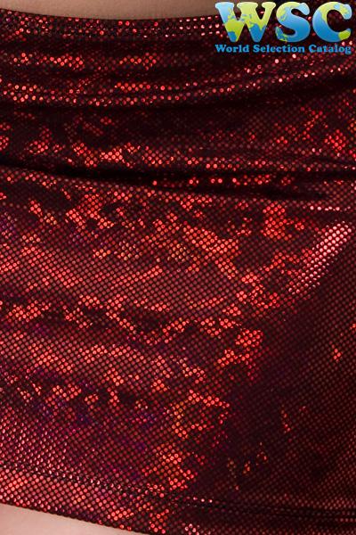ボディコン通販の商品:グリッターラメ赤ミニスカート・赤E2403・イメージ写真7