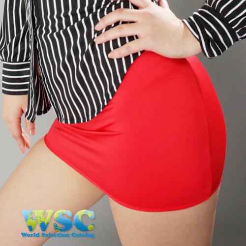 エロ下着の通販商品:丈25cmのタイトスカート・赤E2511・着用写真1
