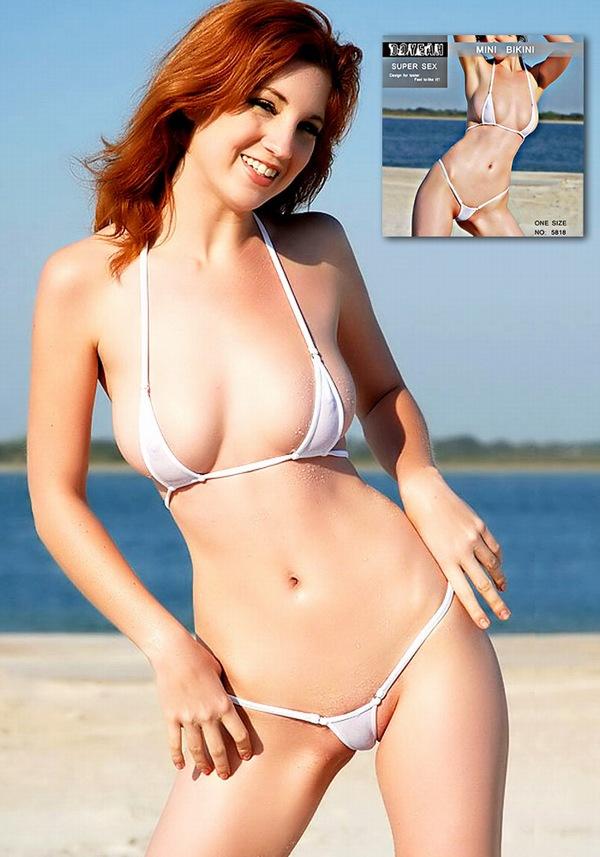 エロ下着の通販商品:濡れ透け最高の小さめビキニ・DY5818・白・イメージ写真1