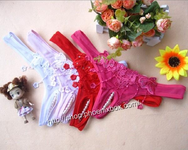エロ下着の通販商品:パール付のオープンクロッチE6022・参照カラー・イメージ写真