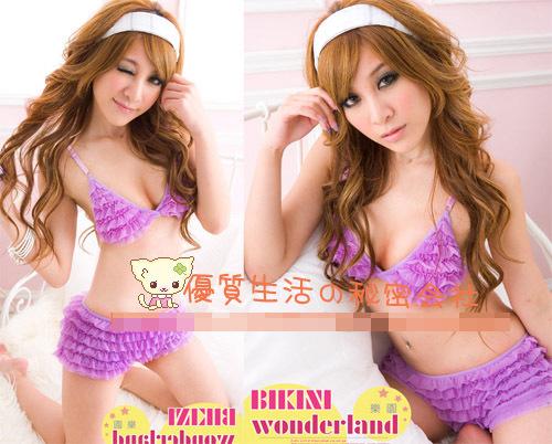 エロ下着の通販商品:ブラショーツセットE9115・紫・イメージ写真