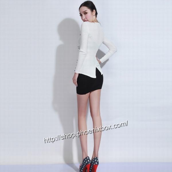 エロ下着の通販商品:タイトスカート・黒E1112・素人着用写真3