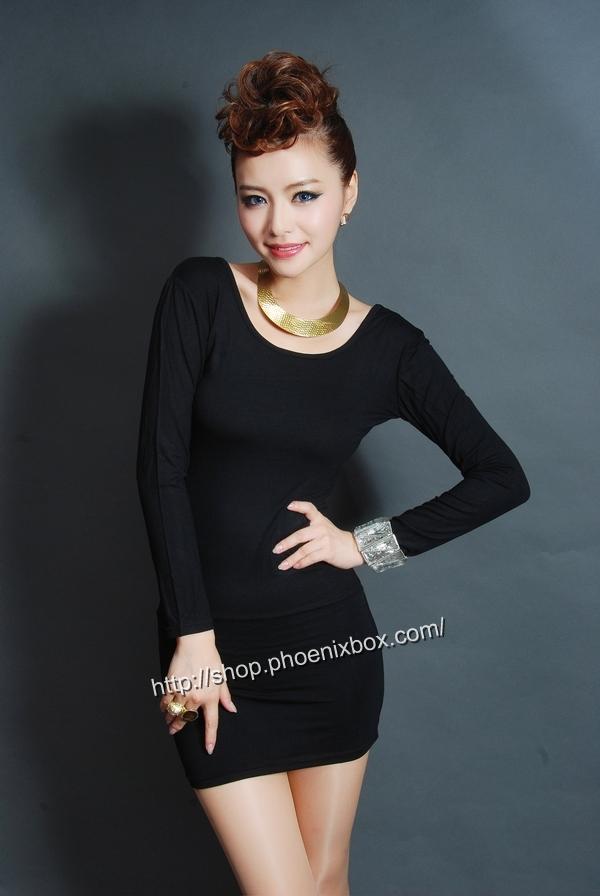 ボディコンワンピ通販商品:タイトボディコンワンピ・20301・黒・イメージ写真1