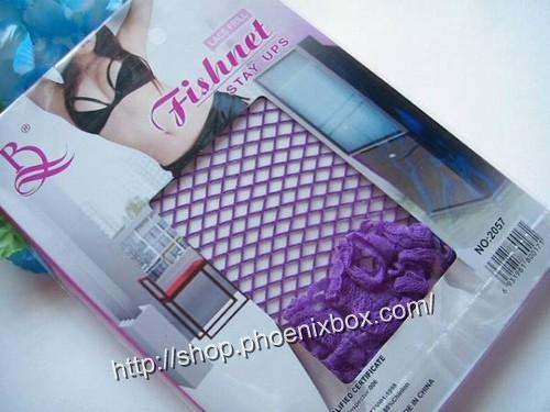 エロ下着の通販商品:網ガーターストッキング・紫6536・パケッジ写真