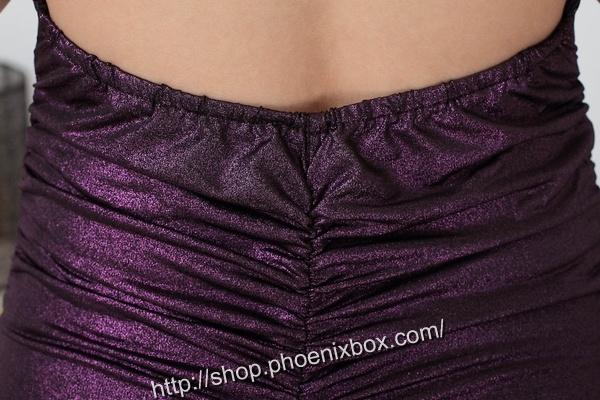 ボディコン通販商品:ラメ入り光沢ボディコン・紫・イメージ写真10