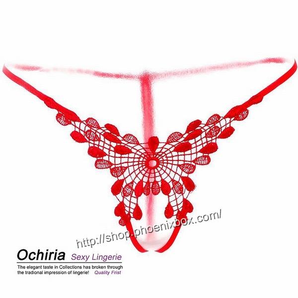 エロ下着の通販商品:TバックオープンクロッチE2010・赤・イメージ写真3