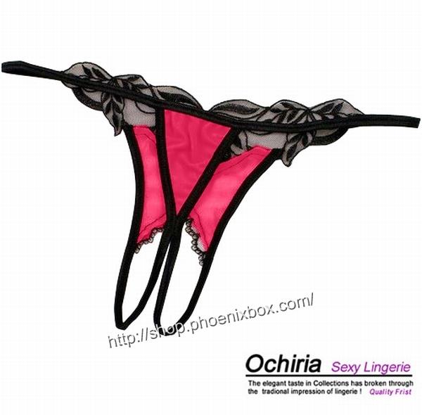 エロ下着の通販商品:オープンクロッチTバックE2012・赤・イメージ写真5