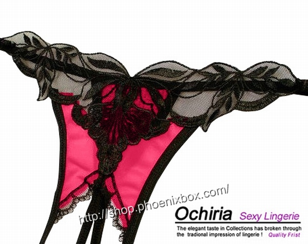 エロ下着の通販商品:オープンクロッチTバックE2012・赤・イメージ写真6