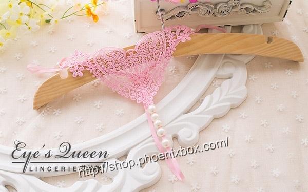 エロ下着の通販商品:パール付極薄TバックE2051・ピンク・イメージ写真1