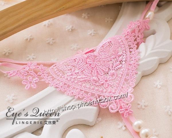 エロ下着の通販商品:パール付極薄TバックE2051・ピンク・イメージ写真2