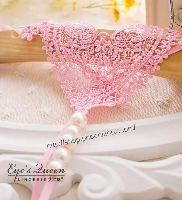 エロ下着の通販商品:パール付極薄TバックE2051・ピンク・イメージ写真4