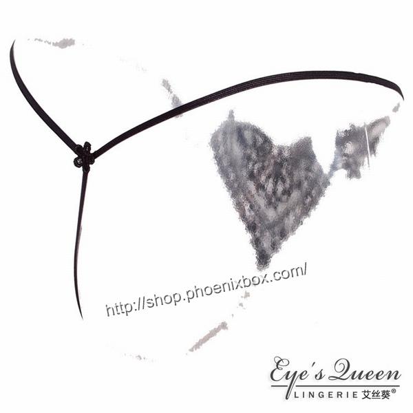 エロ下着の通販商品:パール付極薄TバックE2051・黒・イメージ写真5