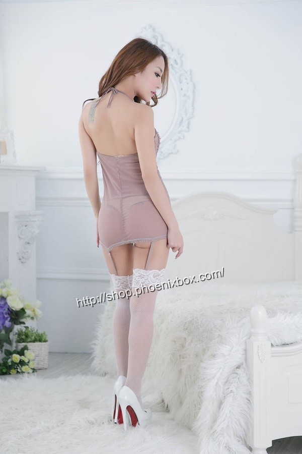 エロ下着の通販商品:ベビードール・E7085・茶色・イメージ写真3