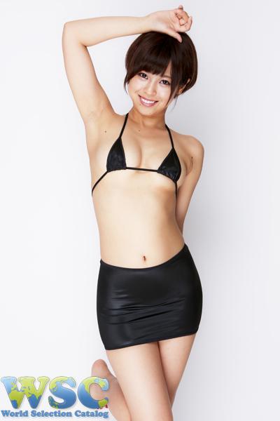 エロ下着の通販商品:25cm丈光沢スカート・黒528001・イメージ写真1