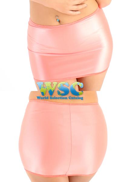 エロ下着の通販商品:25cm丈光沢スカート・ピンク528001・イメージ写真5