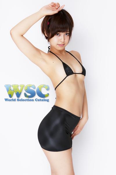 エロ下着の通販商品:25cm丈光沢スカート・黒528001・イメージ写真3