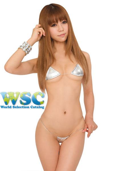 エロ下着の通販商品:マイクロミニ・ビキニ【極細ヒモ】・E900・シルバー・イメージ写真1