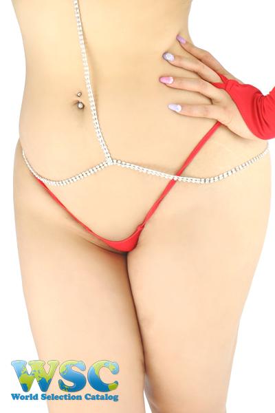 エロ下着の通販商品:スーパーマイクロビキニ・赤・イメージ写真7