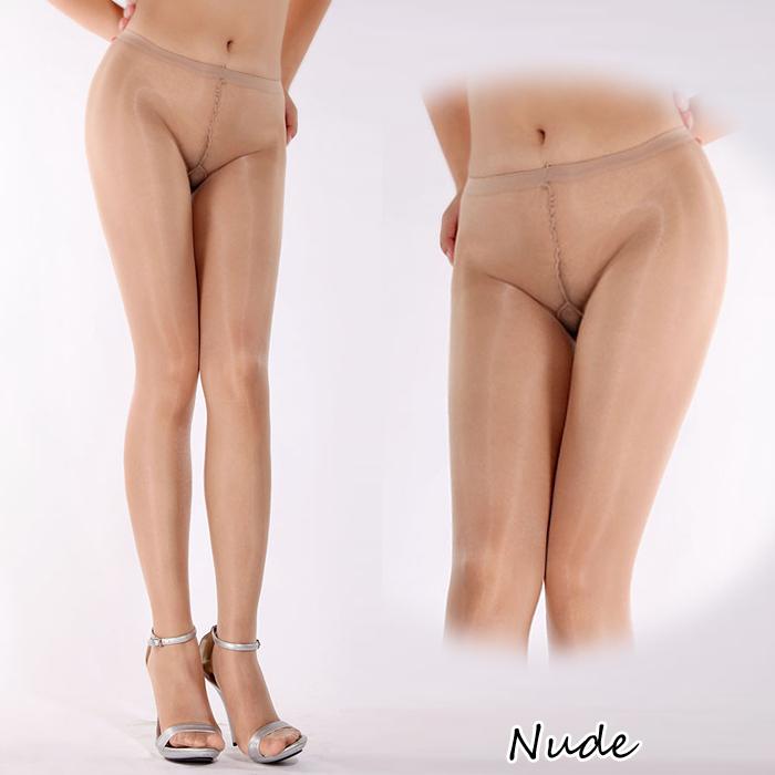 エロ下着の通販商品:オールスルー光沢パンスト・ヌーディベージュDY0148・イメージ写真1