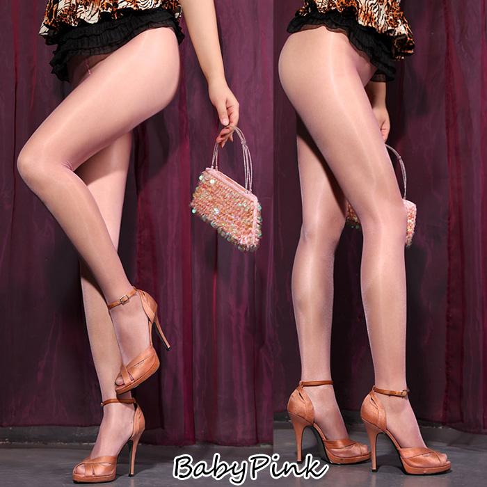 エロ下着の通販商品:オールスルー光沢パンスト・ベビーピンクDY0148・イメージ写真1