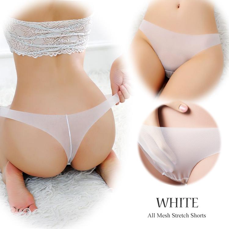 エロ下着の通販商品:透ける・伸びる・薄い!Tバック・白E5277・イメージ写真