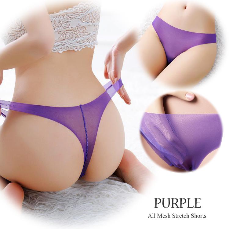 エロ下着の通販商品:透ける・伸びる・薄い!Tバック・パープルE5277・イメージ写真