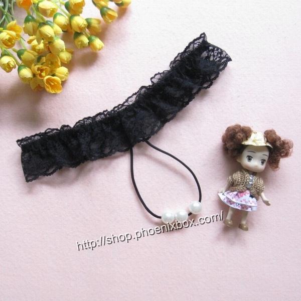 エロ下着の通販商品:真珠ショーツTバック7213・黒・イメージ写真
