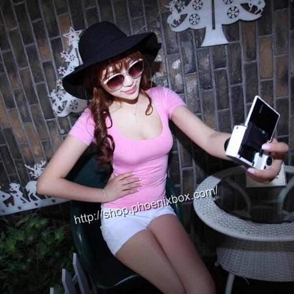 ボディコン通販商品:セクシーチビT・ベビーピンクMA012・イメージ写真2