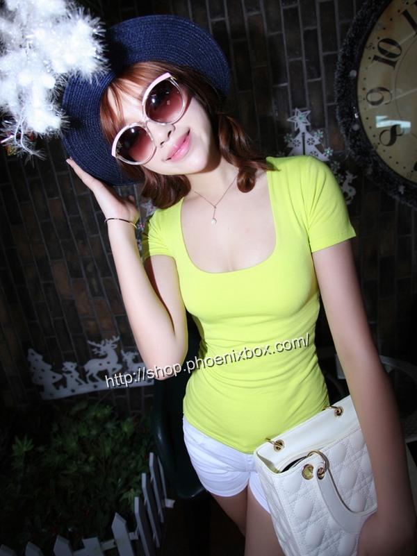ボディコン通販商品:セクシーチビT・ライトミントMA012・イメージ写真1