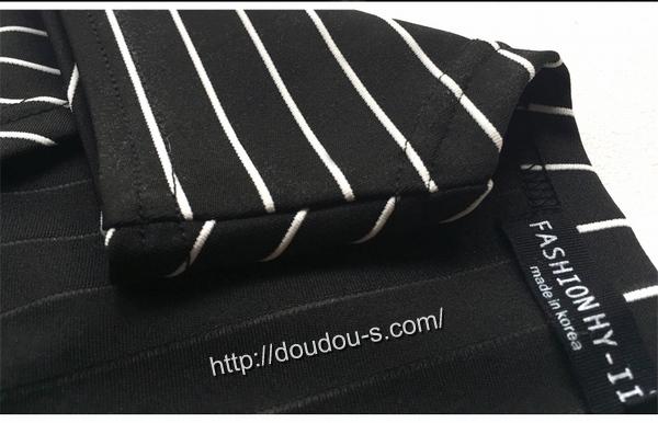 ボディコン通販商品:斜めカットのミニワンピ・ストライプ柄XS11201・詳細写真6